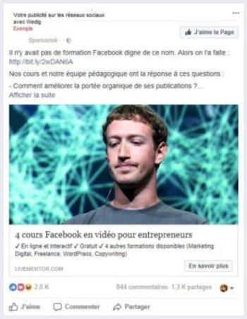 Facebook Ads: diffusion publicites sur les reseaux sociaux