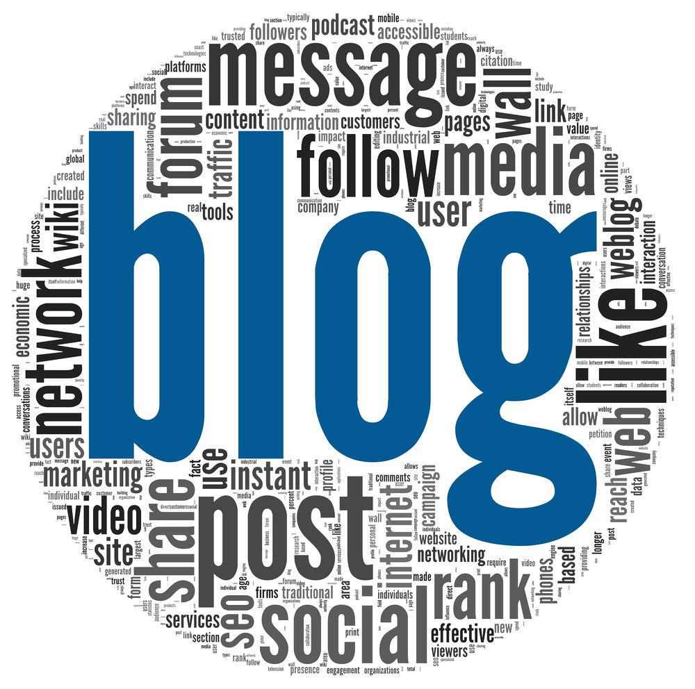 création de contenu avec un blog