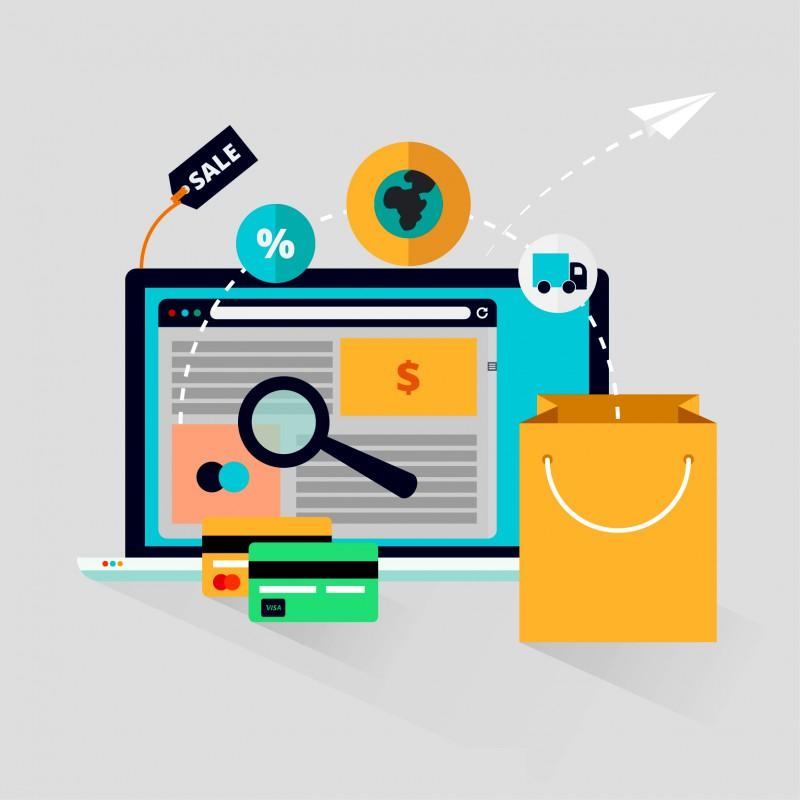 illustration commerce en ligne