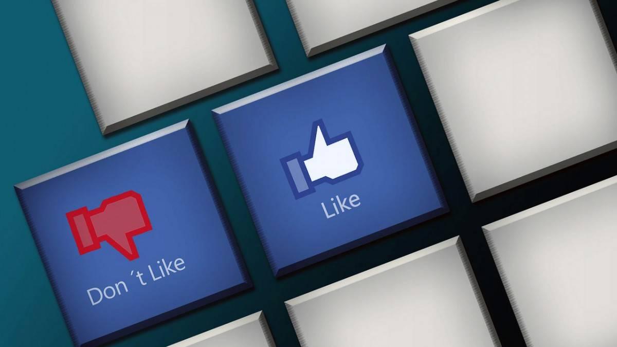 réseaux sociaux : bouton j'aime pas Facebook
