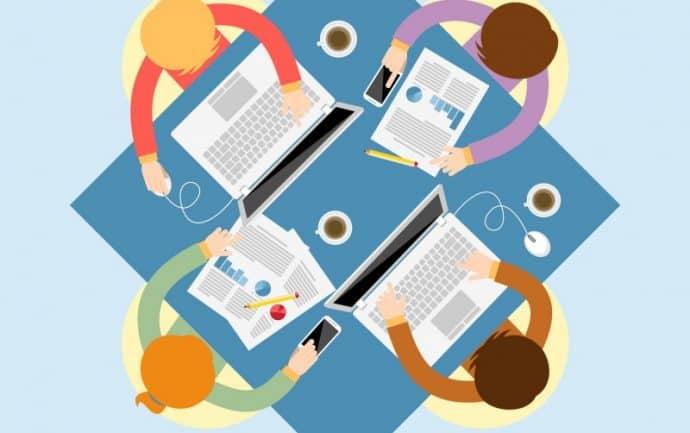 illustration réunion-marketing