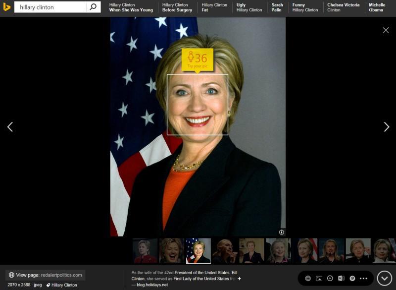 Bing Images devinera-t-il votre âge ?