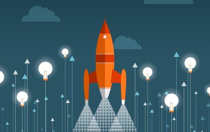 Rocket Taking Off - Start-up Concept