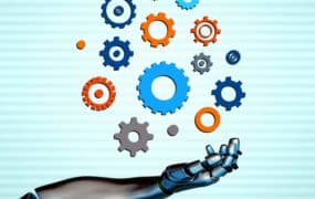 Robotic arm with gears - Automation and artificial intelligence