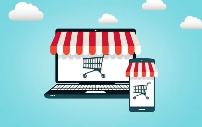 Online Shopping - Shopping Cart on Screen